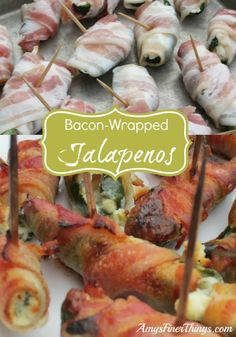 These Stuffed Jalapeno Appetizers are the bomb! Plain ol' cream cheese gets kicked up a notch with add-ins, and well... bacon makes everything better!