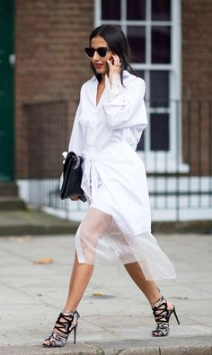 Nausheen Shah The shirting trend that dominated New York made it to London -- and is still looking pretty strong.