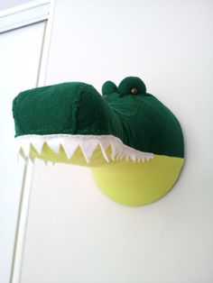Wall Mounted Animal Heads in Fabric - Cassius Crocodile