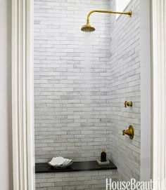 greige: interior design ideas and inspiration for the transitional home : in the bath // 2