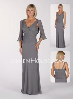 Mother of the Bride Dresses - $147.19 - A-Line/Princess V-neck Floor-Length Chiffon  Charmeuse Mother of the Bride Dresses With Ruffle  Lace  Beading (008006214) http://jenjenhouse.com/A-line-Princess-V-neck-Floor-length-Chiffon--Charmeuse-Mother-Of-The-Bride-Dresses-With-Ruffle--Lace--Beading-008006214-g6214
