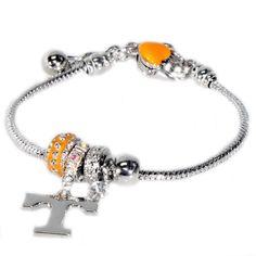 Tennessee Volunteers Bead  Charm Bracelet - Tennessee Volunteers - College Jewelry  Handbags MIMIAMOR ~ Jewelry  Fashion