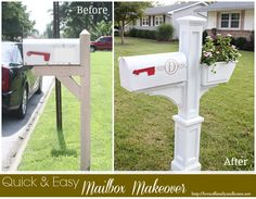 Westbrook Mailbox post with flower box.  It slips right over your old post (doesn't come with mounting board or mailbox)