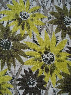 Vintage 1950s barkcloth fabric