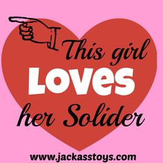 This girl LOVES her soldier!