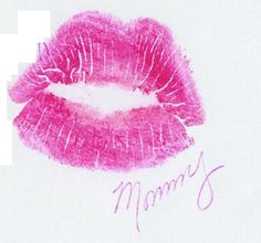 I have several medical issues and was told I wouldn't live much longer. (2007). My then 15 yr old daughter asked me to put my lip print on a piece of paper for her and sign it. When she turned 18 she got this tattoo. (It's my kiss print.)