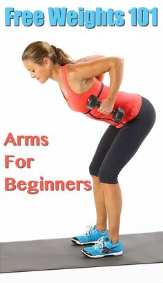 Free Weights 101: Easy beginner arm workouts! Kick start your strength training! #armworkouts #fitness #freeweights