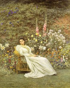 19thcentury:    Helen Allingham 'In The Garden', c.1890