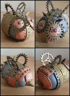 Sculpey polymer clay steampunk Bee