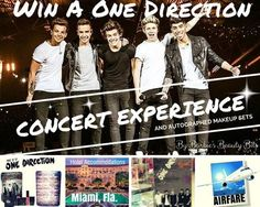 Win Tickets To See One Direction & Autographed Makeup Sets #OneDirectionFans