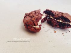 Gooey Brownie Cookies with Salted Peanut Butter Filling | Life & Co
