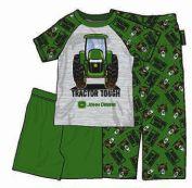 """John Deere Toddler & Youth Green """"Tractor Tough"""" Summer Pajama Set"""