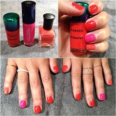 Giving the new @Proenza Schouler x MAC nail polish a try this #manimonday