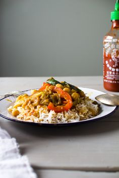 Eggpland and chickpea cocunut curry
