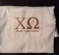 Glitter Heat Transfer Greek Letters for T Shirts by SunshineVinyl, $6.50