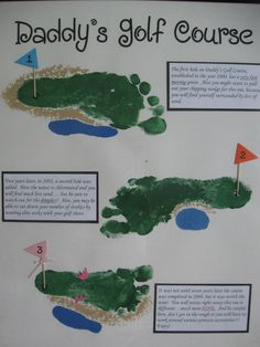 golf footprint art for Father's Day