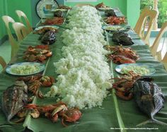 Maybe not the type of food but to eat like this with my family- Pinoy Kamayan Style!