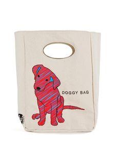 Fluf Organic Cotton Lunch Bag Doggy Bag - 100% organic cotton