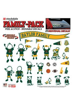 Perfect for the #Baylor family vehicle! // Baylor Bears 12x12 Perforated Auto Decal ($14.95)