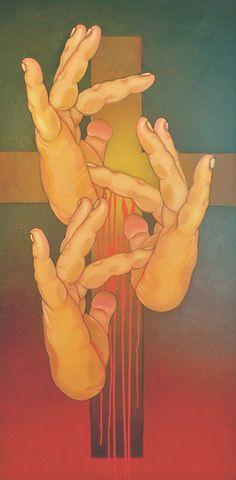Gallery - ASL & Deaf Related - Chuck Baird Art (Jesus!)