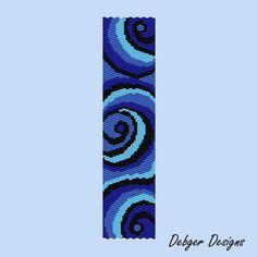 Blue peyote bracelet