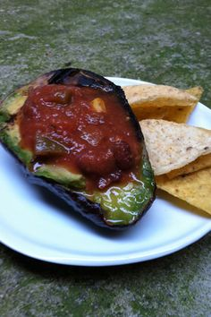 Grilled Avocado with Salsa #holidayavocado @Amazing Avocado