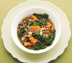 Lentil Stew With Mustard Greens and Sausage recipe