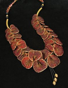 Coleus necklace by Helen Breil on Flickr  polymer clay can be beautiful