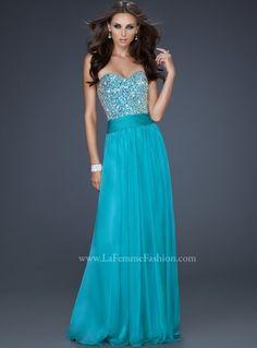 Beaded bodice prom dress