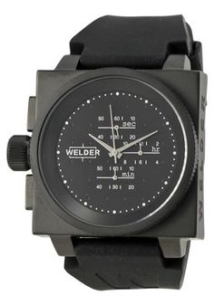 Welder - Stainless Steel Black Dial White Index 45mm Chronograph