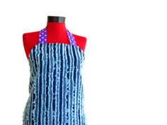 Fun and Functional Denim Apron by rengarenk on Etsy, $25.00