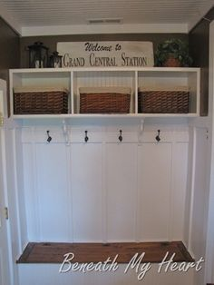 Mud room from Beneath My heart, and batten board