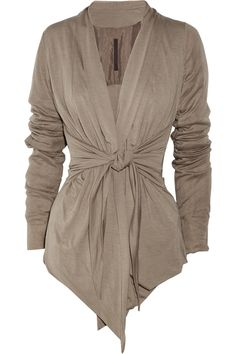 Rick Owens Lilies Tie-front jersey cardigan