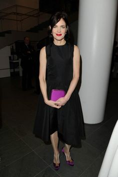 Elizabeth McGovern wearing Ralph Lauren Collection