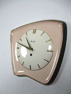 1950s ceramic clock, by Mauthe