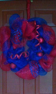 Ole Miss mesh wreath
