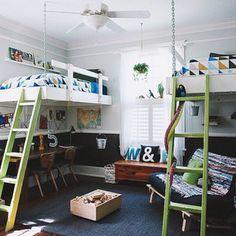 love the desks under the beds