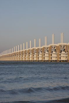 The Delta Works are a number of structures built to keep the coastline of the Netherlands from flooding
