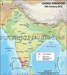 Map of Chera Dynasty irons, dynasti 13201414, chera dynasti, maps, chola dynasti, visit, place, histori map, histor india