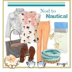 Nod to Nautical, created by zinagirl on Polyvore