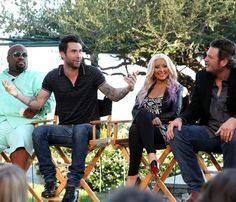 The Voice judges Cee Lo Green, Adam Levine, Christina Aguilera and Blake Shelton promote the upcoming third season. Are you excited?#Repin By:Pinterest++ for iPad#
