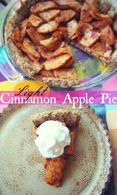 Healthy & Light Cinnamon Apple Pie