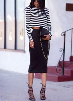 #edgy #fashion #stripes