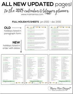 2015 Blogger Planner