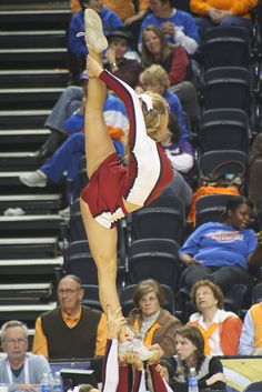 SEC tournament, college cheer, University of South Carolina cheerleading, cheerleader, scorpion, needle #KyFun m.13.54  moved from @Kythoni Cheerleading: Stunts: Bow & Arrow, Heel Stretch, Scorpion & Scale  board http://www.pinterest.com/kythoni/cheerleading-stunts-bow-arrow-heel-stretch-scorpio/
