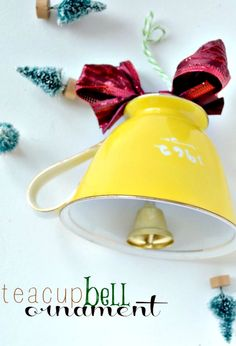 Make a Teacup Bell Ornament with this easy tutoria