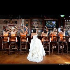 Every fun wedding party should have a picture like this