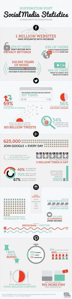 Infographic - Social Media Statistics for 2013
