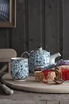 Japanese tea pot and cup
