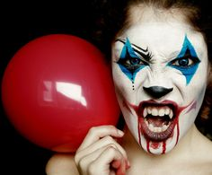 Evil Clown halloween Makeup